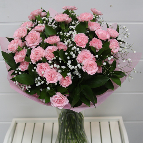 pink spray carnations